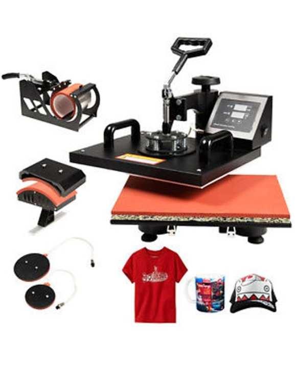 T-Shirt Mug Cap Printing Heat Press Machine-5 in 1