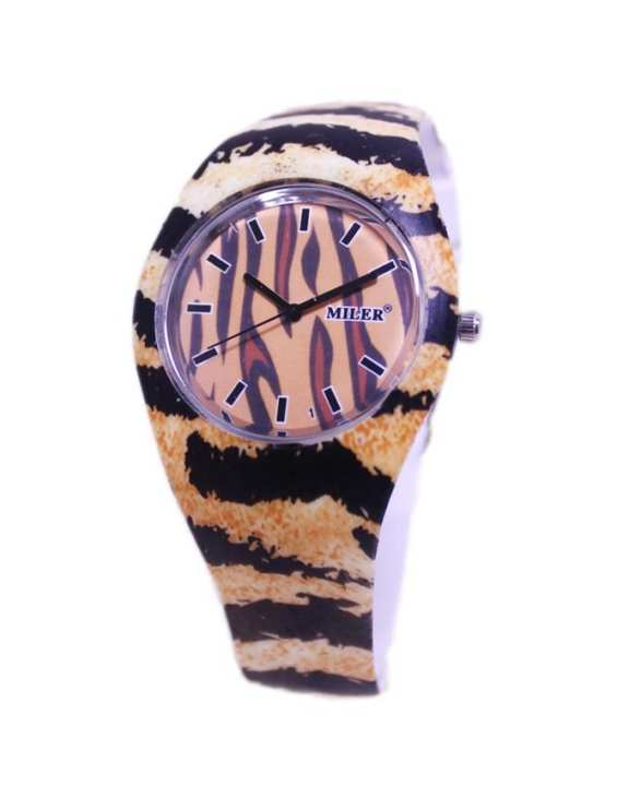 Brown Rubber Watch for Girls