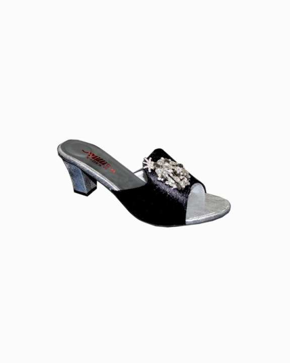 Black Synthetic Shoes For Women - milli-2012-black