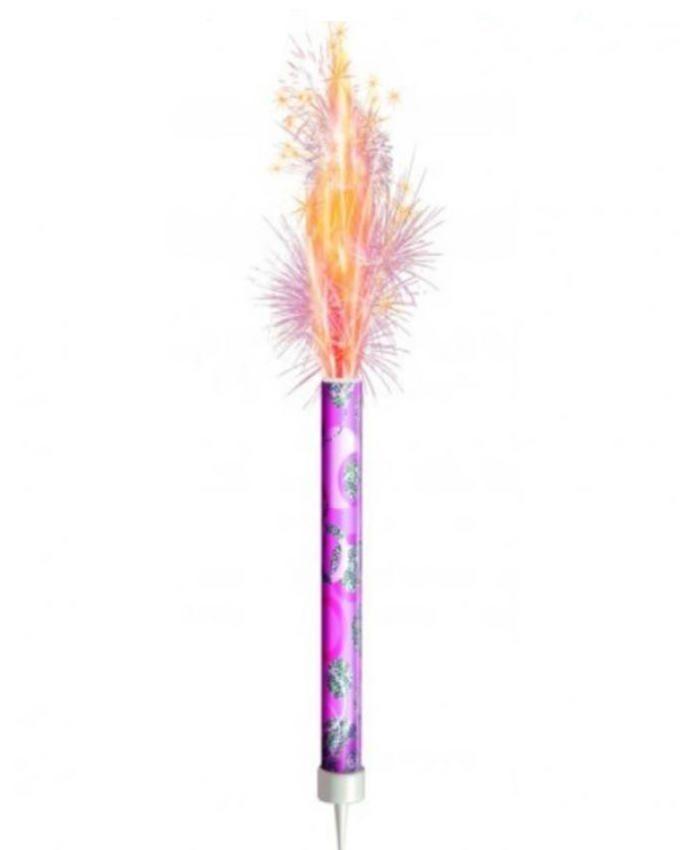 Pack of 6 - Birthday Sparkling Candle - Medium