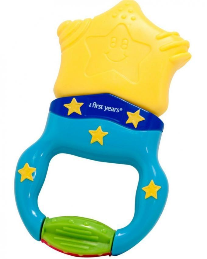 Massaging Action Teether - Blue & Yellow
