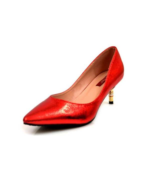Red Synthetic Pumps Heels For Women