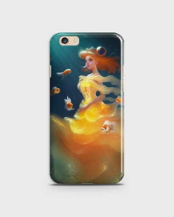 Cover For Oppo F1s Hard Mermaid Style Girl -1cover2823