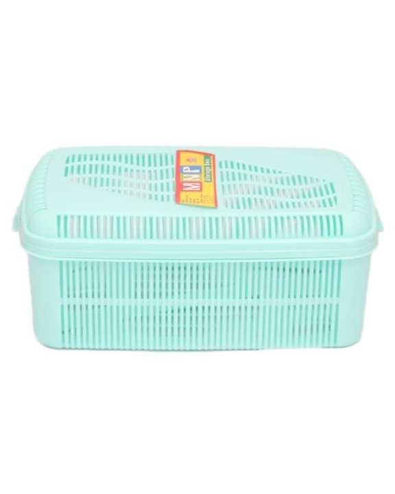 Multipurpose Vanity Storage Basket With Lid