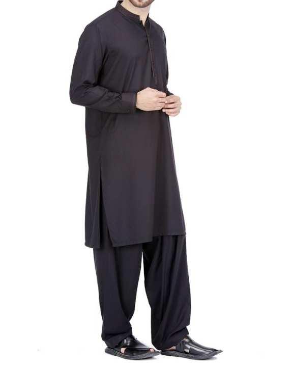 Black P.V Regular Kameez Shalwar