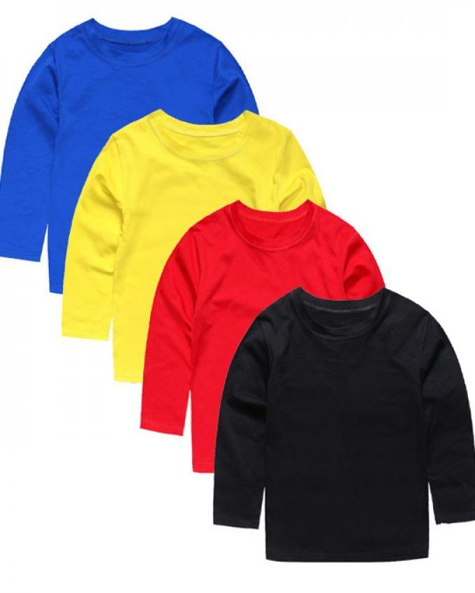Pack Of 4 Multicolors Mix Cotton Full Sleeves T-Shirt For Kids 55dd6b96f
