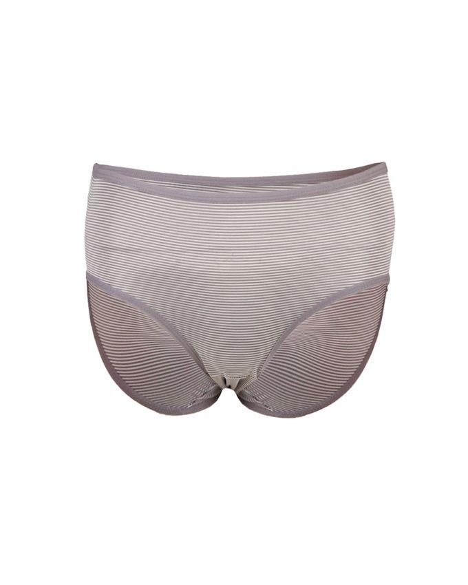 Grey-Black Mixed Cotton Pack of 3 Line Briefs