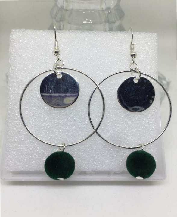 Stylish Alloy Silver Earrings For Her