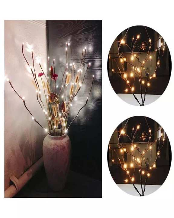 Branch Lights - Led Branches Battery Powered Decorative Lights Willow Twig Lighted Branch For Home Decoration Warm White - 20 Inches 20 Led