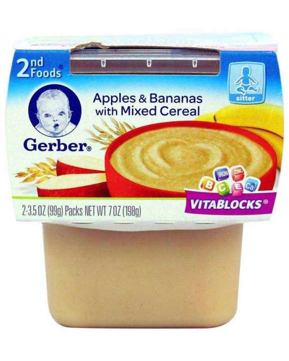 Apples & Bananas With Mixed Cereal Baby Food