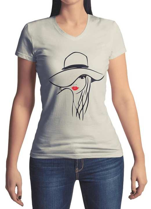 White Printed T-Shirt For Women