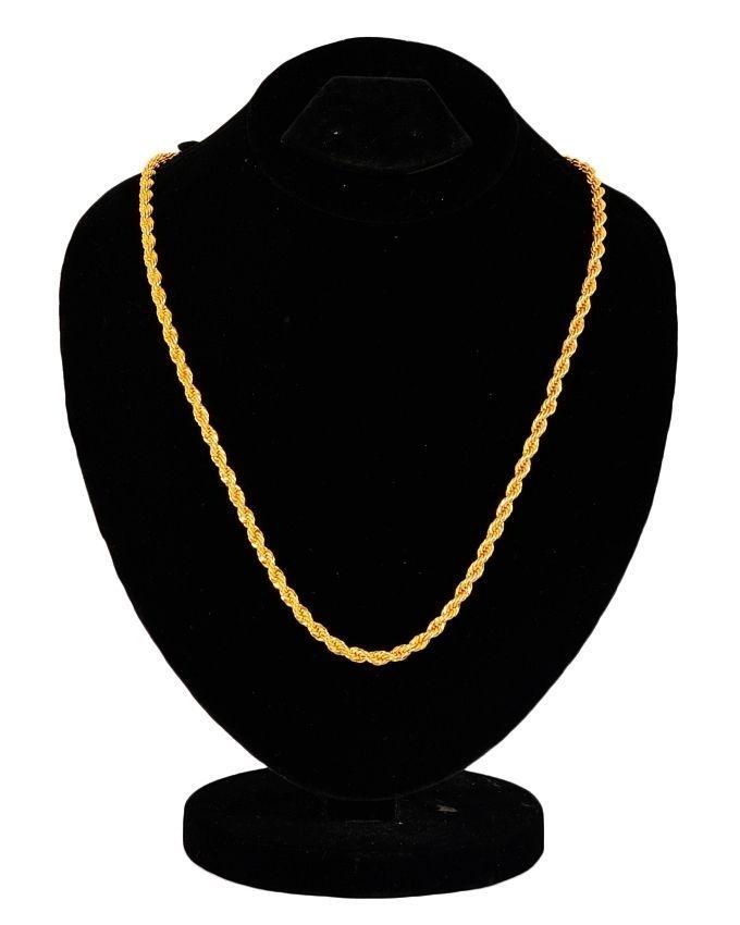 84c468ab11 18 K Gold Plated on Stainless Steel Chain For Women