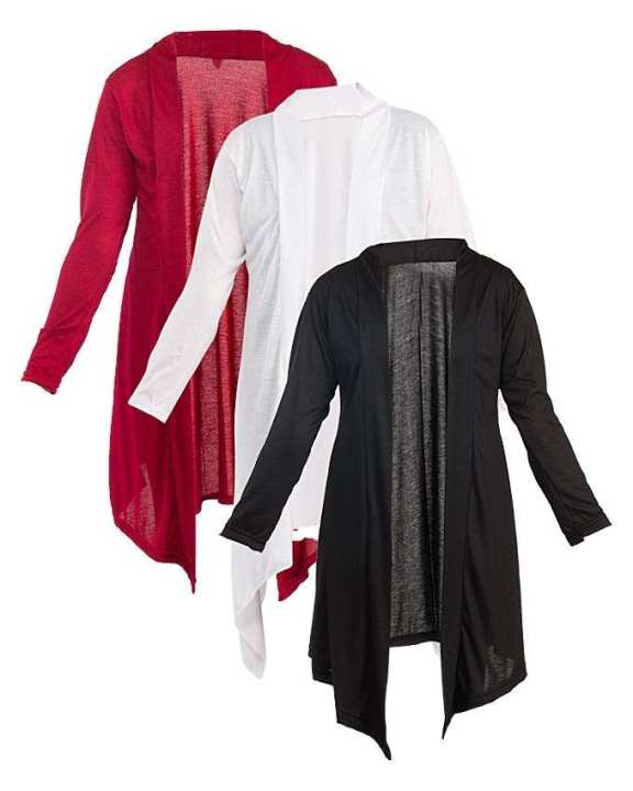 Pack of 3 - Multi Color Cotton Jersey Shrugs for Women - CWC250