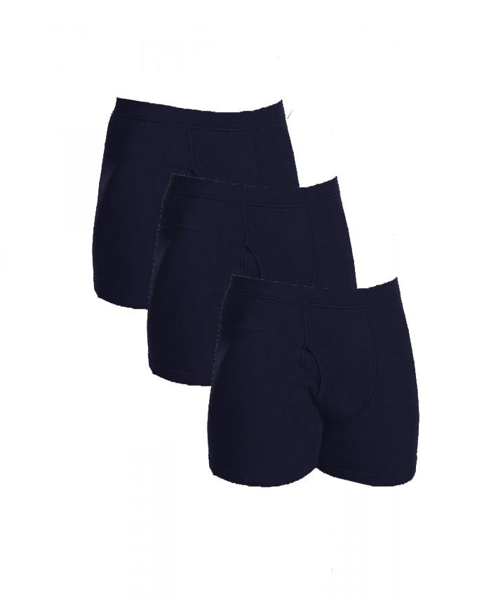 Pack of 3 - Navy Blue Cotton Boxer Underwear for Men 8dac78b44f