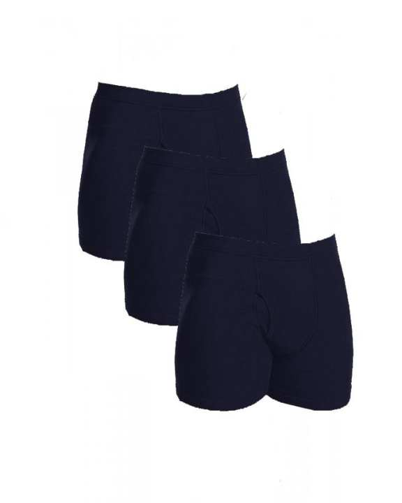 Pack of 3 - Navy Blue Cotton Boxer Underwear for Men