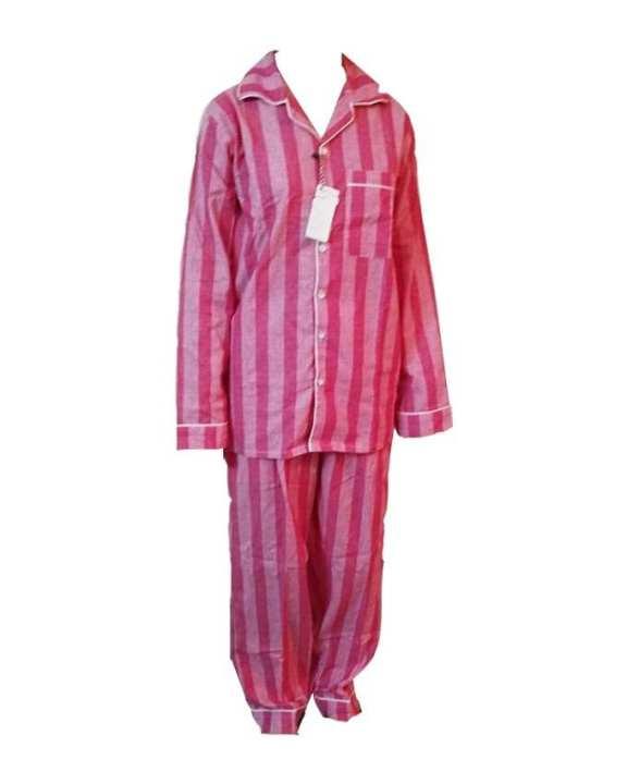 Comfitwears Pink Linning Dyed Yarn Cotton Fabric Nightwear Suit