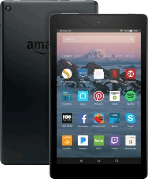 Amazon Fire HD 8 2017 7th Generation 16Gb / 32GB Wi-Fi 8Inch Black Tablet PC
