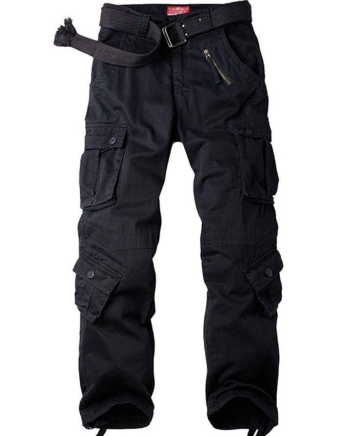 Men Cargo Trousers Pants Jeans
