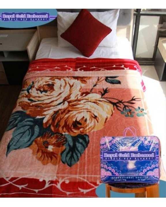 Royal Gold Single Bed Blanket - Design D555 / 2017
