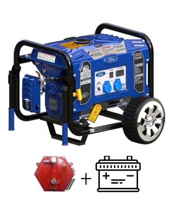 Ford USA FG4050PE - 3.5 KW - Petrol & Gas Generator - With Battery & Gas Kit
