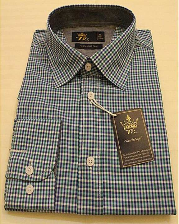 Baby Blue 100% Cotton Casual Shirt For Men