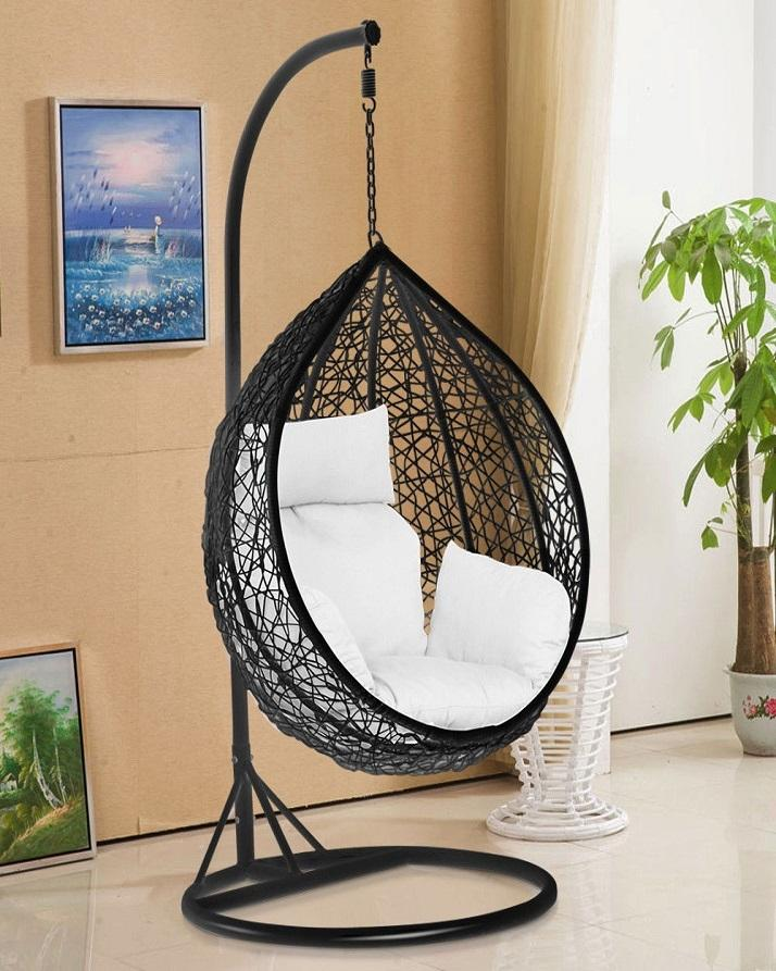 Egg Hanging Swing With Cushion And Stand Jhoola