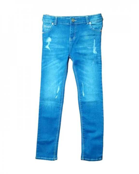 Blue Stretchable Denim Jeans For Boys