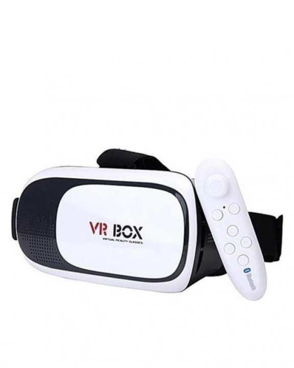 Virtual Reality 3D Glasses with Remote - Black & White