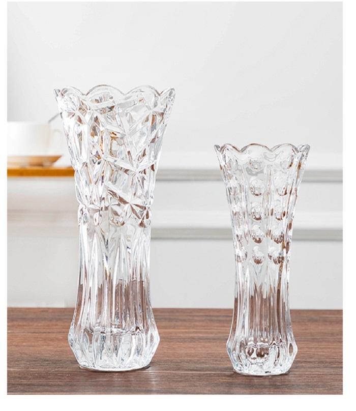 Pack Of 2 - Transparent Glass Vase