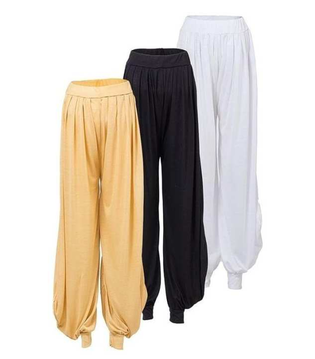 Pack Of 3 - Multicolor Polyester Harem Pants For Women