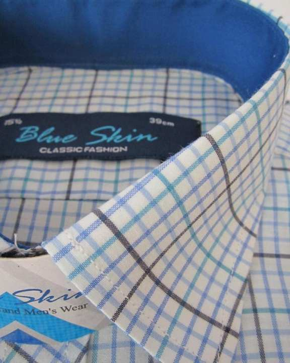 Multi Checkered Cotton Mix Formal Shirt For Men