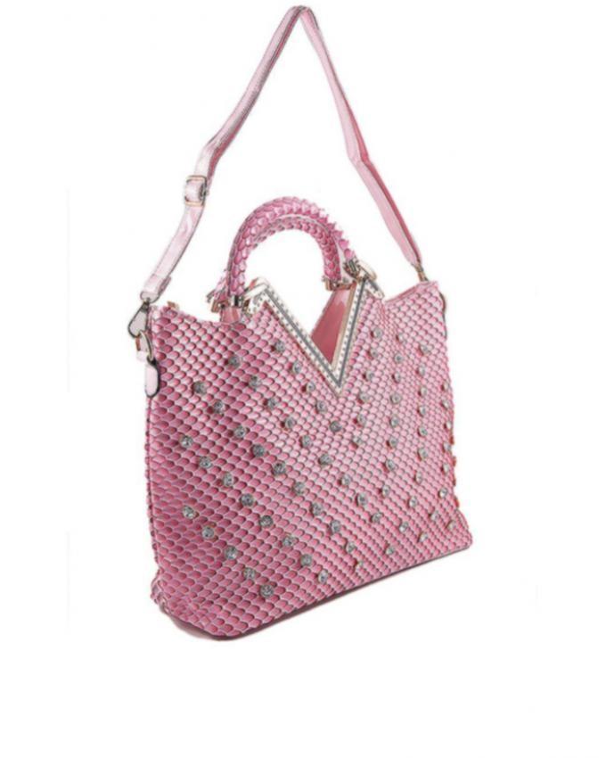Light Pink Unique Design Hand Bag for Women - AM-P-2