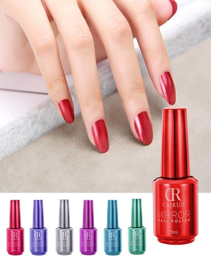 Pack Of 6 Cr Brand 20ml Long Lasting Manicure Quick Dry Nail Art
