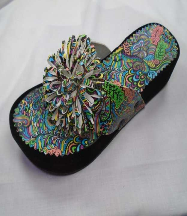 Multi Color  Synthetic Fancy Slipper For Women - 250-50686