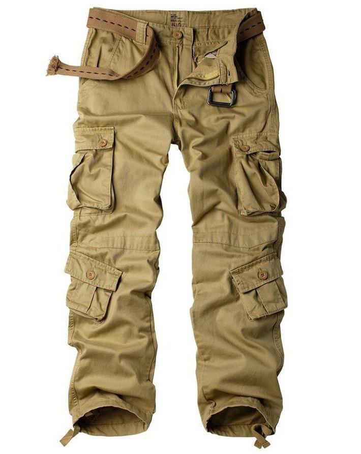 Men Chinos Cargo Pants