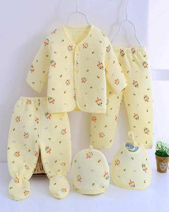 5Pcs Newborn Baby Suit  Infant  Clothes Sets 0-4 Months
