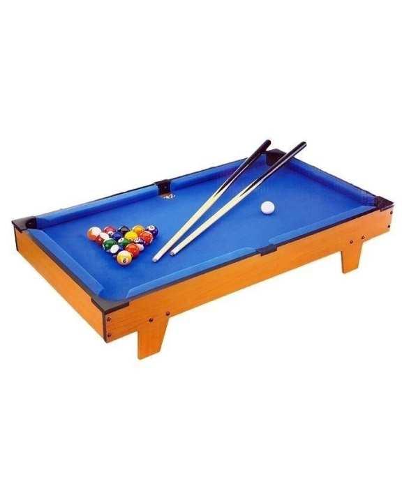 Wooden Billiard Snooker For Kids - Blue