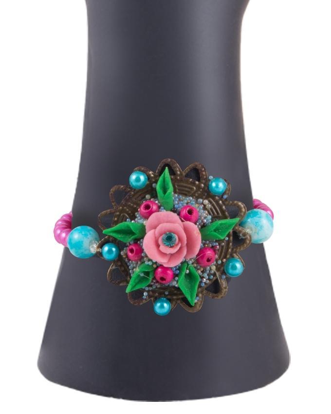 Multi Color Metal Hand Made Fancy Bangle for Women - RIZ-BRC-43