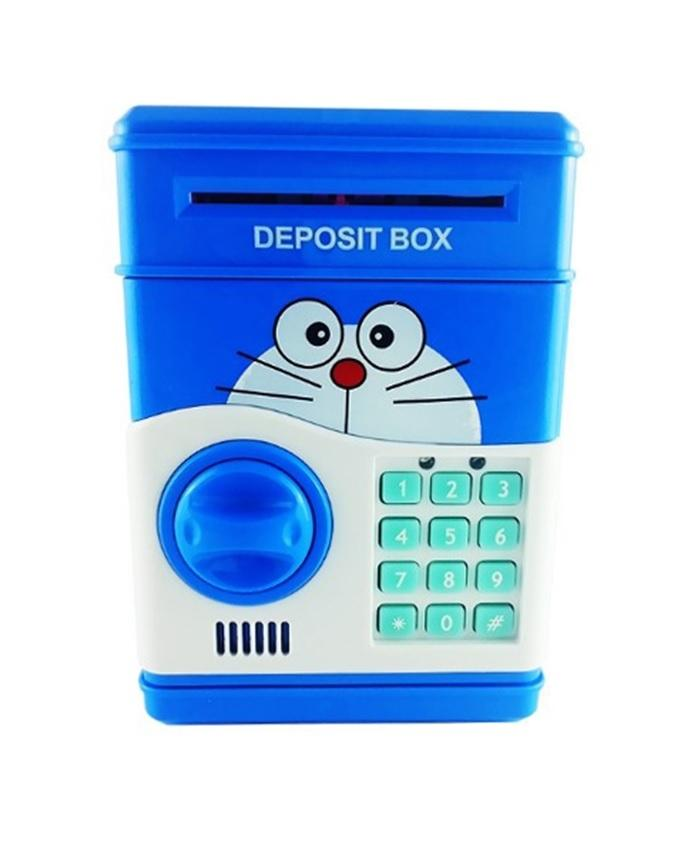 Doraemon Safe With Electronic Lock - Multicolour