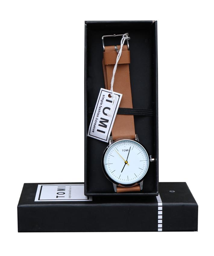 Tomi Casual Watch For Men Analog Leather