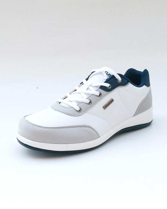 Blue & White Leather Sports Shoes