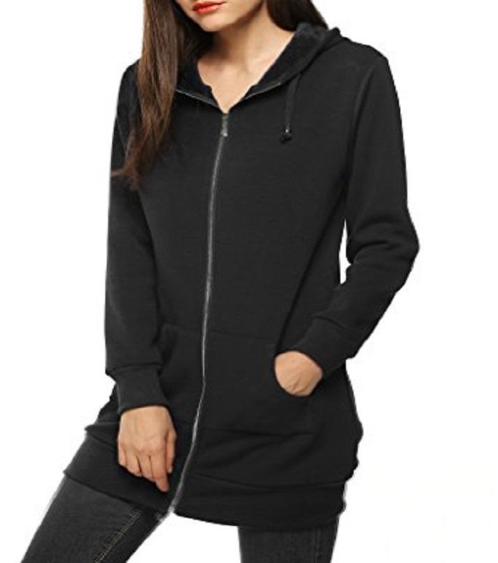 A&G Black Fleece Hoodie For Women