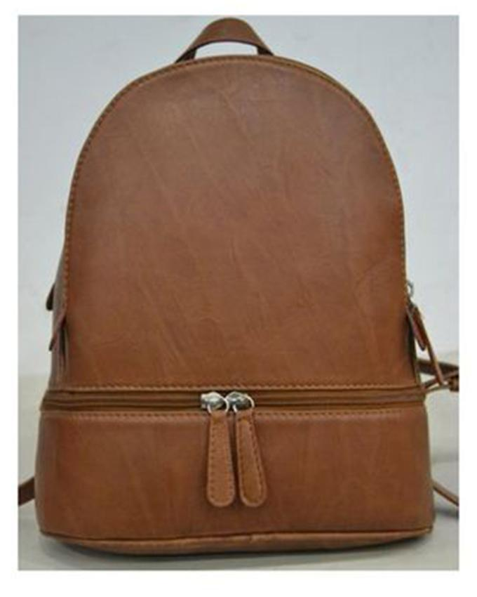 47c381200a2e Tan Leather Back Pack Bag For Women Bobbie-2