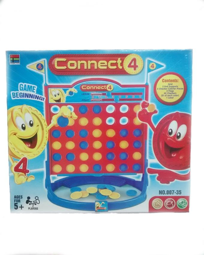 Connect 4 Grab & Go Game For Kids - Multicolor