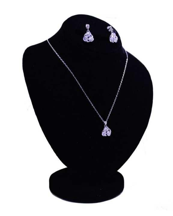 KC Silver Zircon & Metal Jewelry Set for Girls