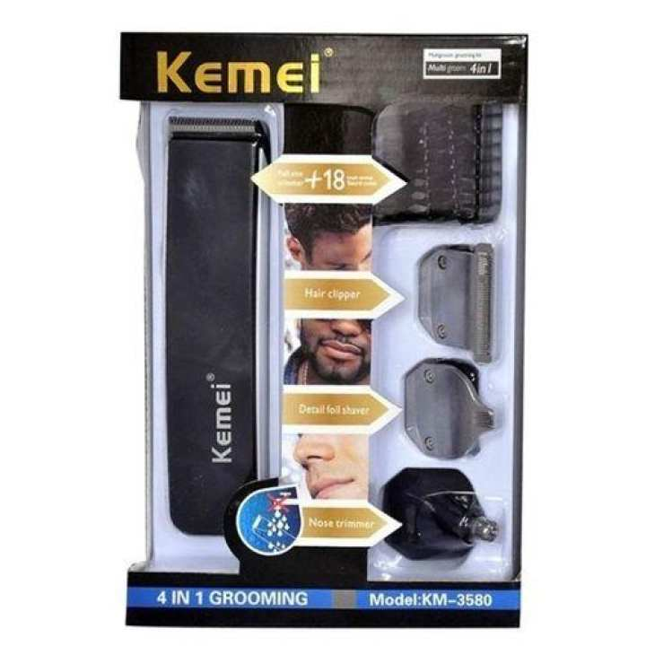 KM 3580 - 4 in 1 Rechargeable Professional Grooming Kit