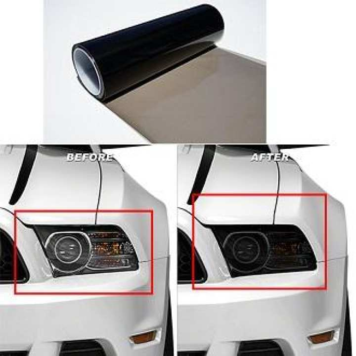Car Headlight & Back Light Smoke Black Vinyl Sheet
