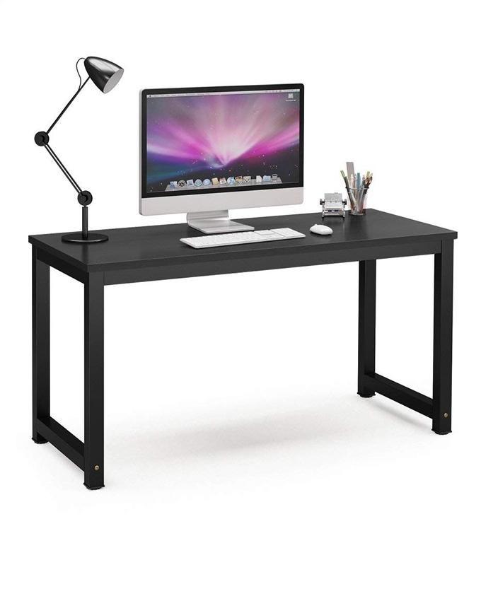 Office Table Office Desk Laptop Table Computer Table Study Table Writing Table Home Table (Black+Black)
