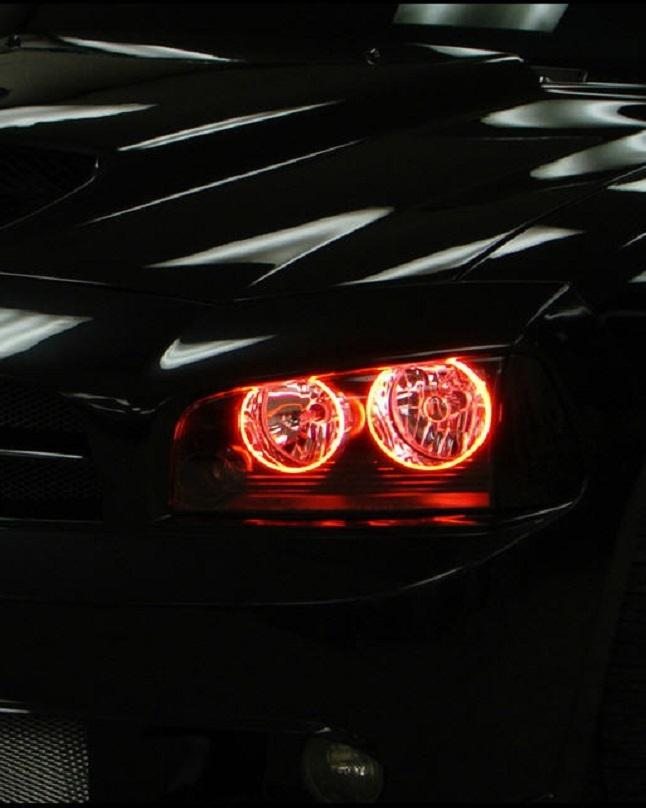 Red Head Light Ring Led Drl Universal