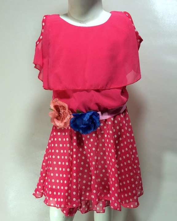 Pink Frock For Girls